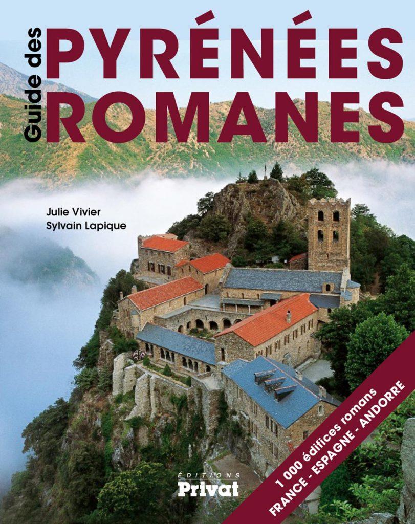 Visuel de couverture du guide Pyrénées romanes par Julie Vivier et Sylvain Lapique