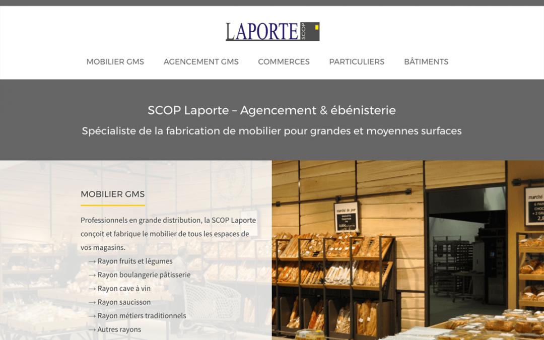 Site de la SCOP Laporte : conception et rédaction
