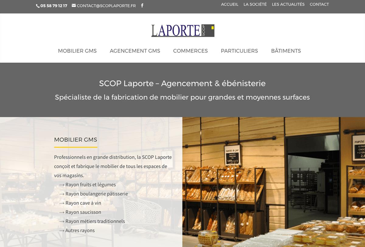 Réalisation du site de la SCOP Laporte : Atelier le Pressoir