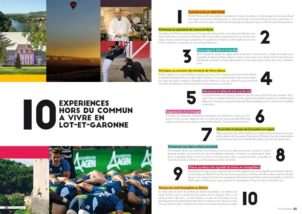 Rédaction magazine de destination - Comité du tourisme 47