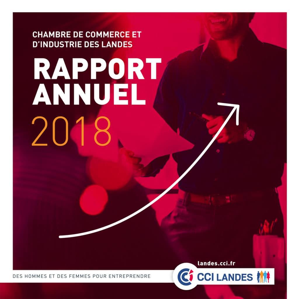 Rédaction des contenus du Rapport d'activité 2018 de la CCI des Landes version print