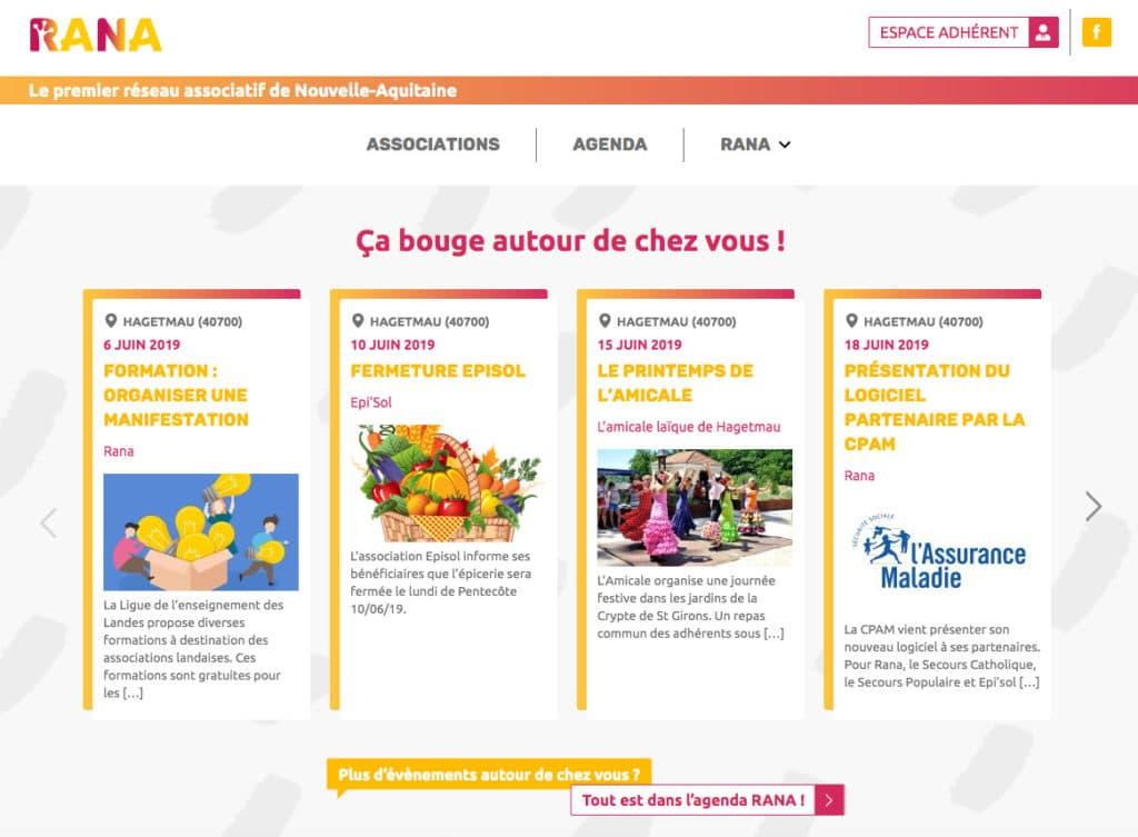 Création du portail web associatif Rana
