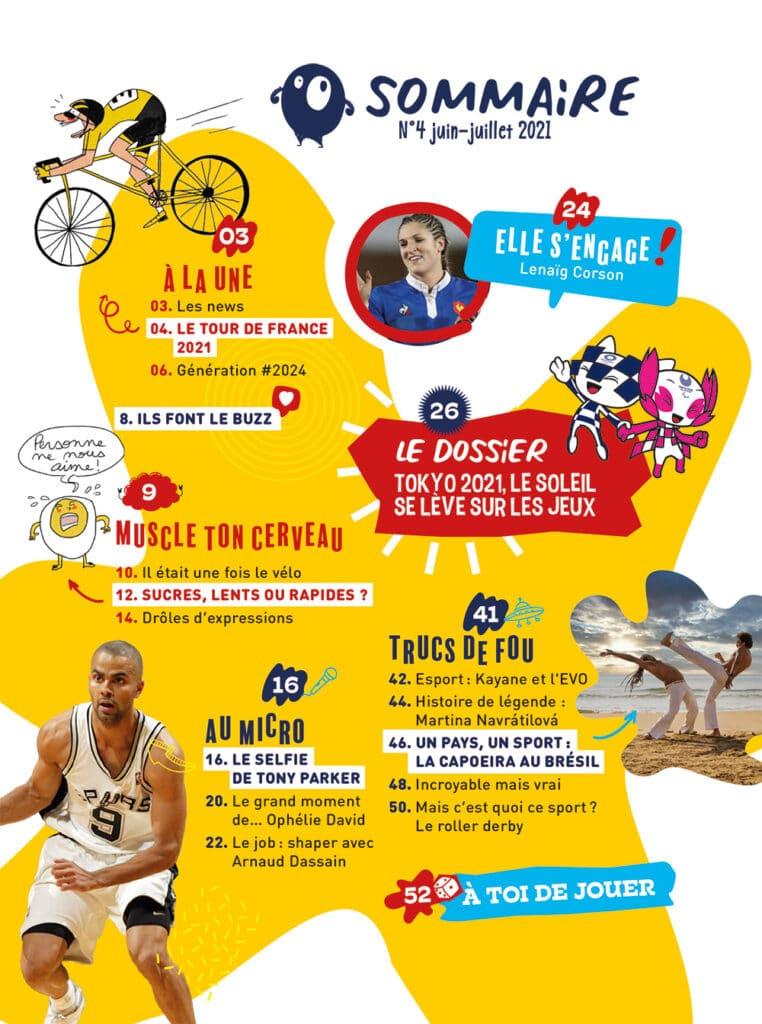 Sporteen Mag : presse jeunesse sport - n°4 juin 2021
